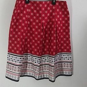 Charter Club nautical skirt size 10